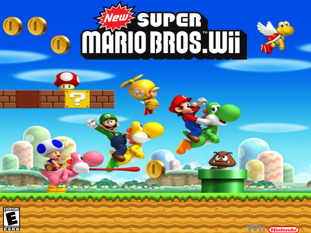 New Super Mario Bros. Wii wallpaper. I just put some logo on the New Super