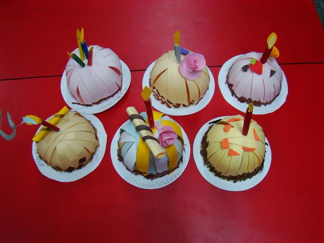 紙勞作蛋糕