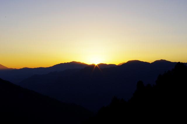 2011年1月1日的大雪山日出署光